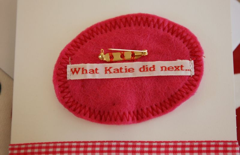 Close up of back of brooch