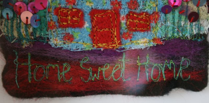 Home Sweet Home close up on writing