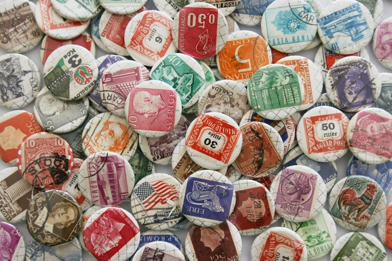 Stamp badges in large group