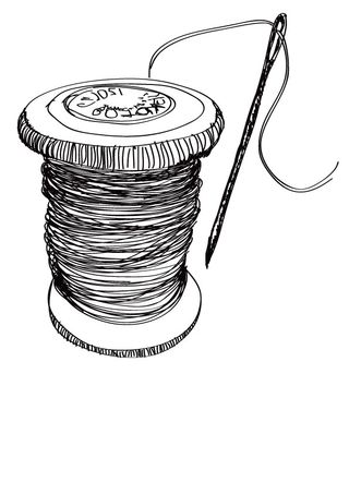 Needle,-thread-and-spool