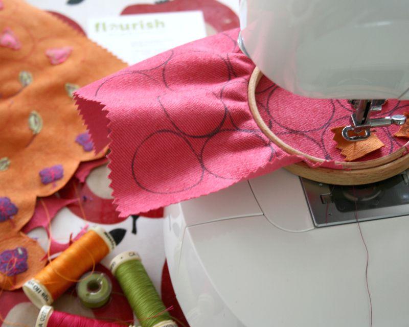 Flourish Applique badges sewing