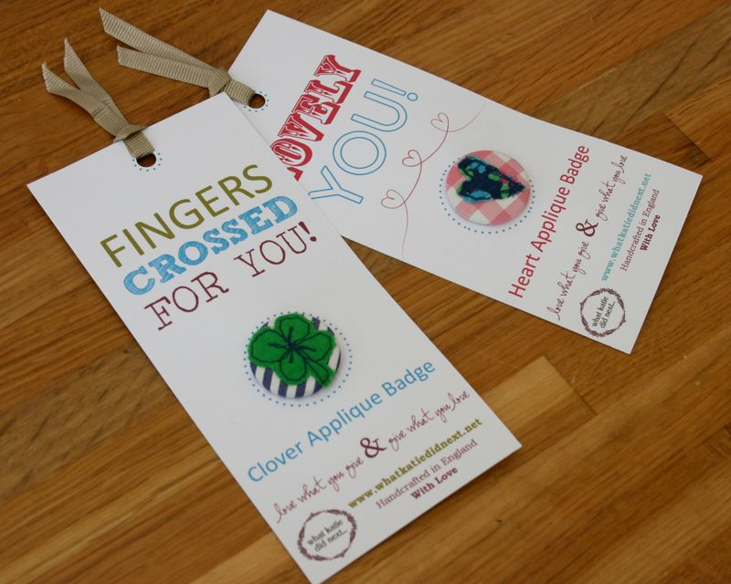 Fingers crossed and lovely you badges