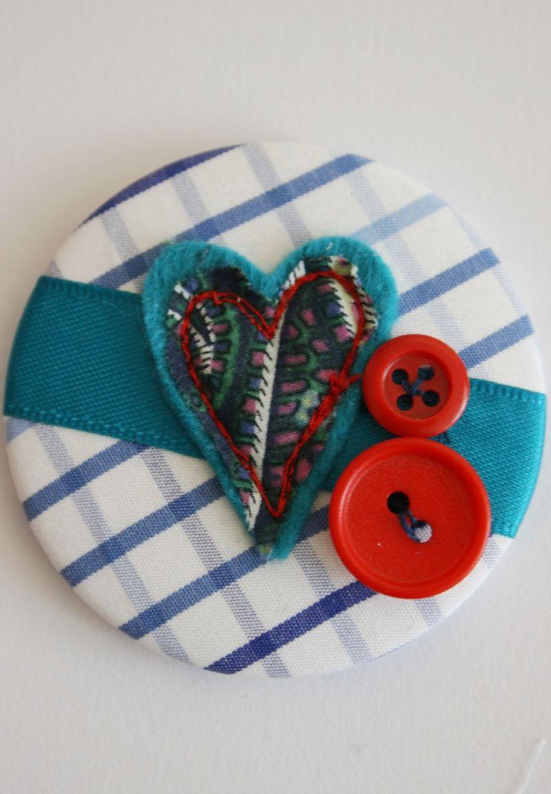 Blue Heart Mirror close up