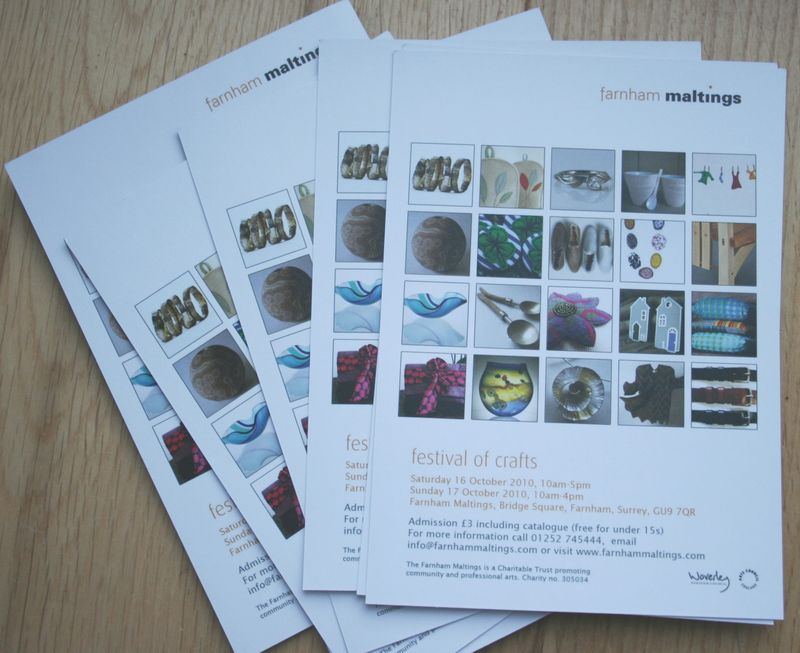 Festival of Crafts postcards back in group
