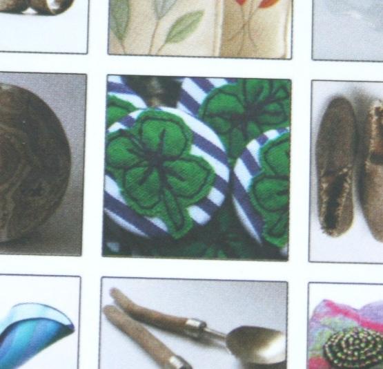 Festival of Crafts postcards back close up of badges image