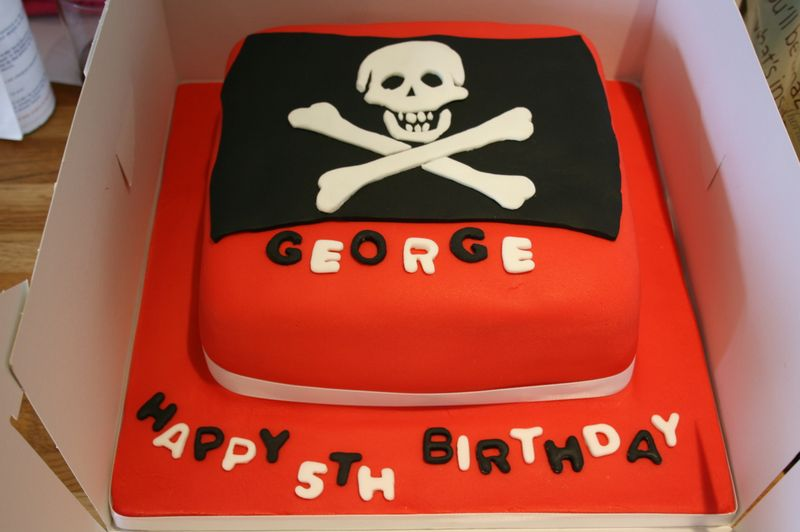 A Fabulous Pirate Birthday Cake From Magenta Cakes What Katie Did